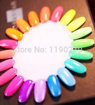 6Bottle/LOT 2014 Bk Fluorescent Neon Luminous Nail Polish drying oil naked 8 ml of 18 color(China (Mainland))