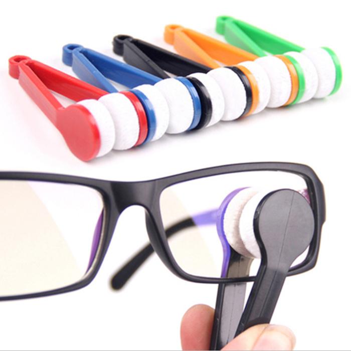 New 10Pcs Mini Eyeglass Microfiber Brush Cleaner for Sun Glasses Eyeglass best deal 1pack(China (Mainland))