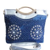 Woman bags fashion 2014 designers demin jean women messenger bags famous brand name totes handbags