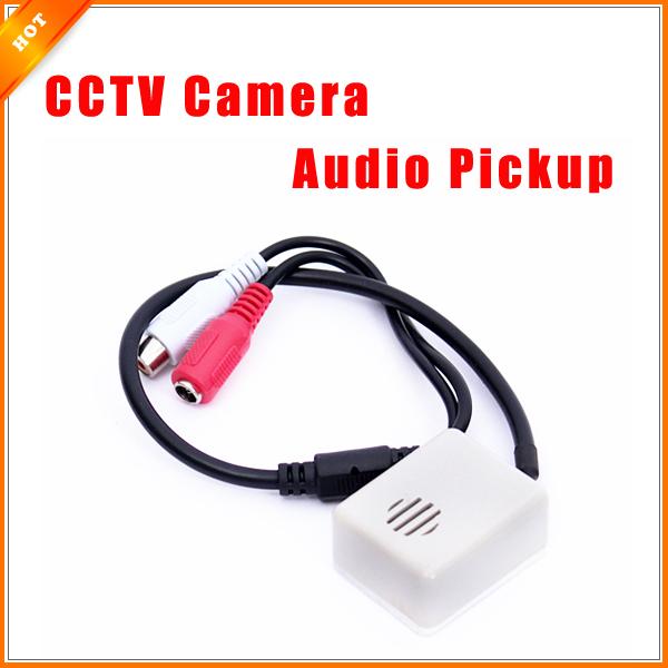 6-12V Audio Pickup Recording Surveillance Sound Monitor for CCTV Camera Mic(China (Mainland))