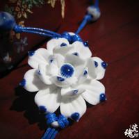 Handmade!!fashion necklace ceramic flower necklace style 5 women free shipping