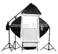 ePhoto 3200 Watt Continuous Photography Video Studio 3 Softbox Boom Stand Digital video Hair Lighting Kit H604SB2