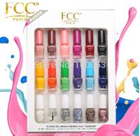 Choose 18PCS The French raw materials Popular Colors 17ml Quick drying Nail Polish base coat top coat nail art kit