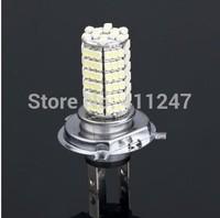 2pcs Car Auto DC 12V 5W 120 LED 3528 SMD H4 White Fog Light Driving Parking Headlight Lamp Bulb Free shipping