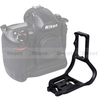 Metal L-shaped Vertical Shoot Quick Release Plate Camera Holder Bracket for Tripod Ball Head Nikon D3/D3S/D3X with Battery Grip