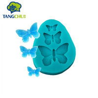 3 pcs/set Butterfly liquid silicone fondant cake mold baking DIY tool COOKIE CUTTER silicone mold cake decorating tools