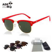 Free Shipping Classic Clubmaster Sunglasses Men Suqared Gold Wrap Sun Glasses Eyewear UV400 oculos gafas Low Price