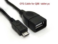 micro usb OTG cable for tablet pc,cell phone Q88 a13,a23 tablet pcV006