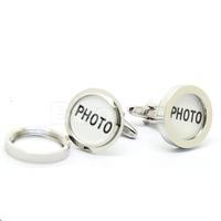 Hot Sale Silver Round Frame Cufflinks