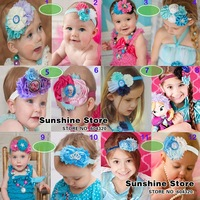 Sunshine store #8z077 5pcs/lot (12 styles) Top Baby New frozen headbands 2014 europe fashion lower hair bands girls accessories