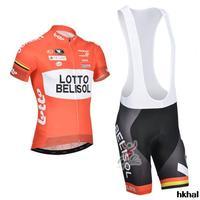 New 2014 Lotto Belisol Cycling Jersey sportswear Cycling clothing bib Shorts sets ropa ciclismo Free shipping