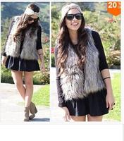 The latest hot sale winter wool imitation fur shawl vest ms short fur waistcoat -G036