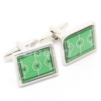 Hot Sale Green football field cufflinks