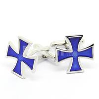 Hot Sale Fashion Blue Cross Cufflinks