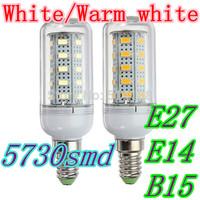 E27 E14 B15 led lamps light 220V-240V Corn Bulbs floodlight 36Leds 5730SMD max 12W 1000LM free shipping