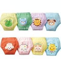 2014 Wholesale 5PCS/Lot Cute Training Pants Reusable Cotton Nappies Washable 4 Layers Baby Children Shorts Baby  Diaper,BP44