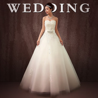 A fashion slim waist lace bride bandage wedding dress 2014