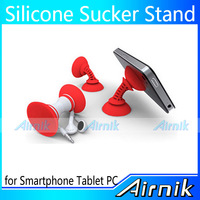 150pcs a lot Wholesale Doubleside Stent Multicolor Universal Rubber Sucker Stand Holder for Mobile Phone