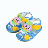 2014 summer  breathable shoes for girls baby boys slip soft bottom cartoon baby sandals children sandals