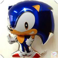 5pcs/lot 3D Sonic foil balloons,girls anime classic toys,happy birthday party decoration kid,helium lantern ballon globos baloon