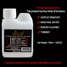 120ML UV Gel Polish Nail Art Remover dropshipping wash nai water/brush cleaner/acrylic remover(China (Mainland))