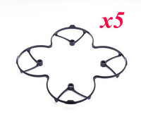 F08568-5 5pcs Quadcopter Propeller Blades Protection Guard Cover Black for Hubsan X4 H107L Toy RC Helicopter+freeshipment