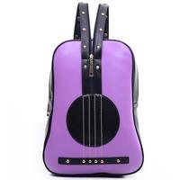 Creative women backpack designer guitar shape school backpacks laptop leather bags shoulder bag