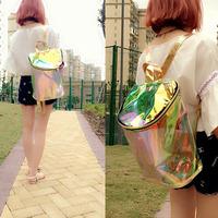 Hologram Transparent Laser Backpack 2014 Jelly Design backpack female fashion vintage bag women's backpack laser school bag