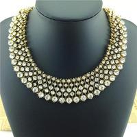 2014 fashion  brand crystal necklaces & pendants fashion items Europe costume chunky choker Necklace statement jewelry women
