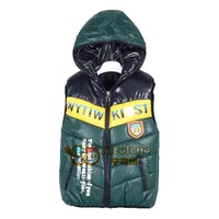 2014 new vest for boys winter hooded 5color children's vest coat 3Y-9Y 1pcs free shipping
