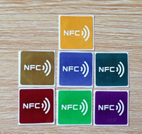 50pcs/Lot best quality smart NFC TAGS (7 Color) NTAG203 NFC rfid  tag lable universal NFC stickers make your life so cool