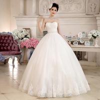 2014 wedding tube top wedding dress formal dress sweet princess bride puff skirt wedding dress diamond