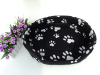 Autumn And Winter Thick Printed  Basin Kennel Dog Bed Set Pet Bed With a Pad in