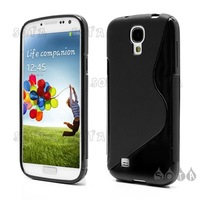 Free shipping S-Curve Soft TPU Gel Case Shell for Samsung Galaxy S 4 IV i9500 i9502 i9505