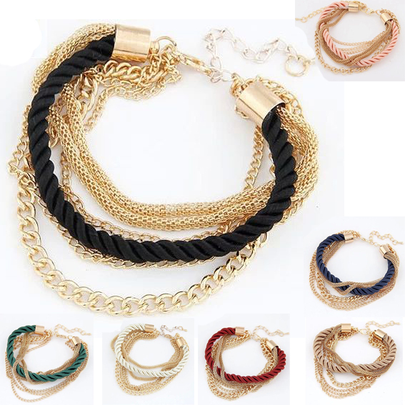 2014 one lot (two pieces) Urban Beauty metal anchor rope bracelet Ms. Best Party Gif (ordinary jewelry)(China (Mainland))