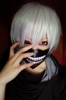 Free shipping 2014 New arrival Japanese anime Tokyo Ghoul Kaneki Ken Cosplay Wig White Hair