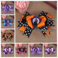 30pcs /lot  5colours 2014 bottle cap hair bows children accessory bows hairbows ribbon bows clips