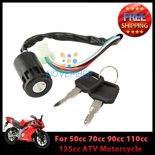 New Ignition Key Switch for 50cc 70cc 90cc 110cc 125cc Pocket Bike Dirt Bike ATV Scooter Motorcycle(China (Mainland))