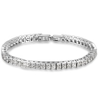 """Frozen"" 925 Sterling Silver  Zirconia Bracelets Fashion Elegant Jewelry for Women Wedding Bridal Birthday Anniversary Gift"