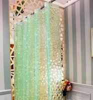 3D Water Cube Waterproof Thicker EVA Bathing Shower Curtain+12 Hooks 1504
