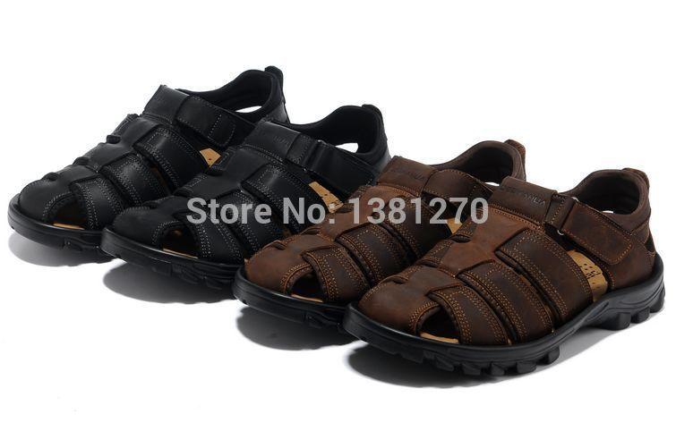 Summer fashion Fisherman Sandasl Men's Katavi Outdoor Sandal Man Tanza Leather Sandals(China (Mainland))