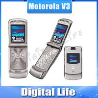 5pcs/lots Origina V3 Unlocked  Motorola Mobile Phone 2.2 inch Screen Multi Language Original Motorola RAZR V3
