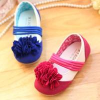 New 2014 Ballet Ballerina Girls Flat Shoes Design Children Shoes Ankle Strap Kids Princess Flowers Summer Shoes KP117