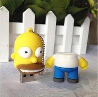 Universal Usb flash  free shipping New Fashion Cartoon cute Simpsons Homer USB 2.0 Memory Drive Stick Pen / usb flash drive