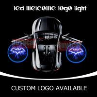 Car Door Led Ghost Shadow Blue Dark Knight Batman Laser Projector Logo Bat Emblem Puddle Light #1191