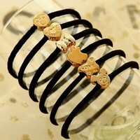 (12pcs/lot) jewelry wholesale Crown flower hair band rope string band Mickey rubber headgear hair accessories for women