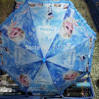 Free Shipping! 48pcs/lot 2015 Fashion Elsa and Anna Princess Sunny And Rainy Umbrella Cartoon Beach Umbrella For Girls A3404
