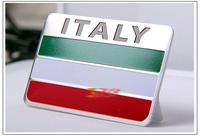 New style 3D Italian Flag sticker the car whole body decoration accessories sticker for  Fiat Maserati