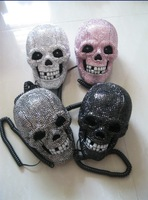 2014 Hot Free shipping(3pcs/lot) wholesale Fashion Horrible Skull diamante corded phone