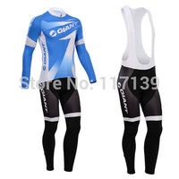 NEW! 2014 cyclingbox Team Thermal Fleece Cycling Clothing/Cycling Wear/Long Sleeve Cycling Jersey (BIB) Suit-6G Free Shipping!